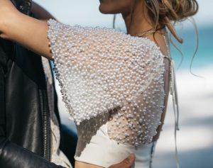 pearl encrusted wedding dress