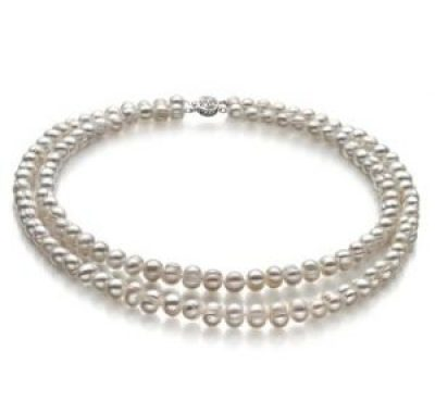 double strand pearl necklace choker
