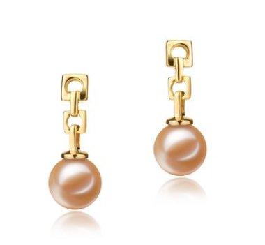 pink freshwater pearl earrings