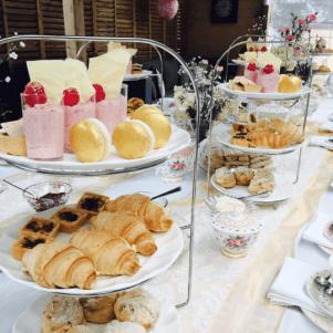 high tea party table setting
