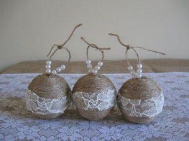 pearl christmas globes