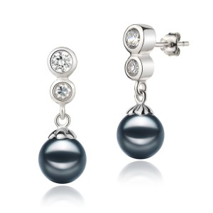 japanese akoya black pearl earrings