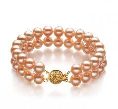 double strand pink pearl bracelets