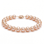 pink pearl bracelet with gold clasp