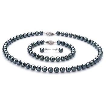set of black Akoya Pearls