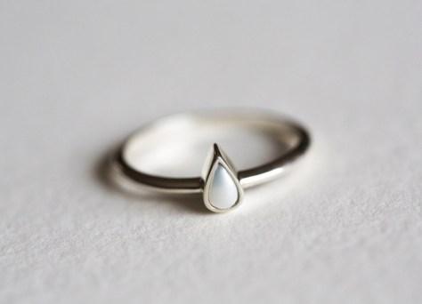 dainty pearl ring