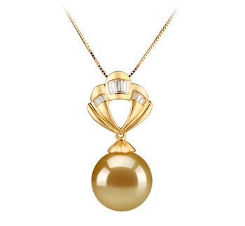 golden colored pearl jewelry