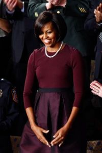 michelle obama wearing pearls