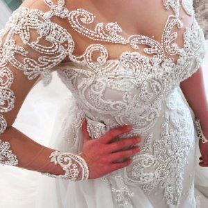pearl wedding gown
