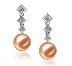 pearl earrings with diamonds
