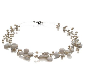pearl jewelry mixed with stones