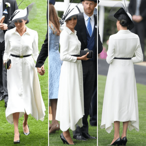 meghan markle wearing white