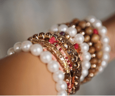 layered pearl bracelets