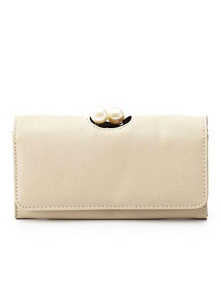 pearl wallet tan