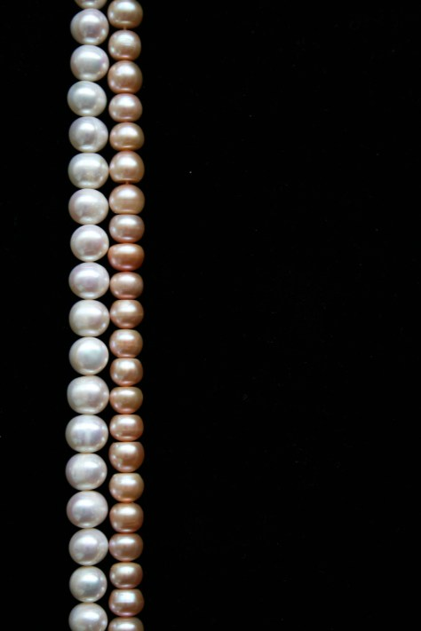 white pearls and pink pearls comparison