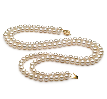 White multi strand pearl necklace