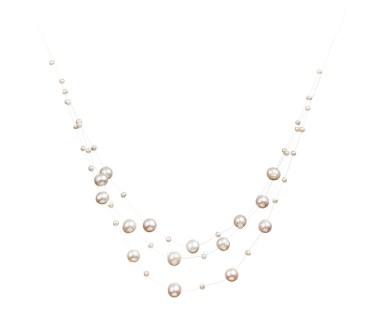 illusion contemporary pearl necklace designs