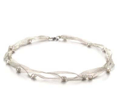 ribbon contemporary pearl necklace designs