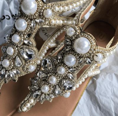 pearl bridal sandals