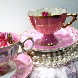 high tea party porcelain cup