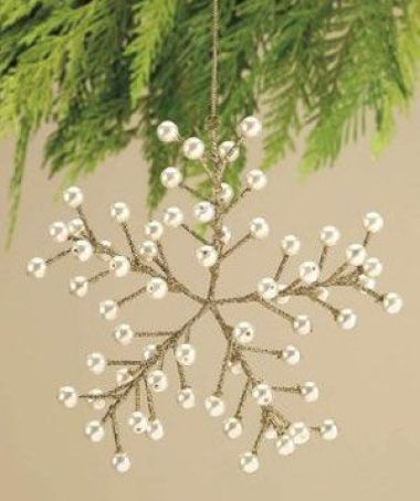 pearl christmas ornament