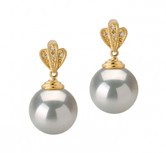 cultured pearl earrings with diamonds
