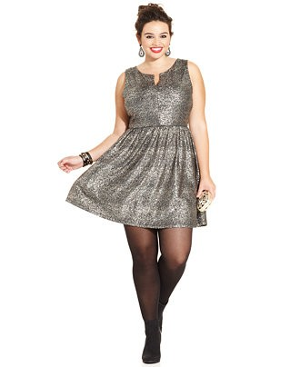Pearl Fashion Holiday Dresses For Curvy And Plus Size Women Under