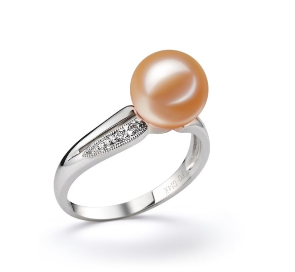 Rosafarbener Hochzeits-Perlenring