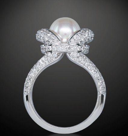 royal wedding pearl ring - Pearl Wedding Rings