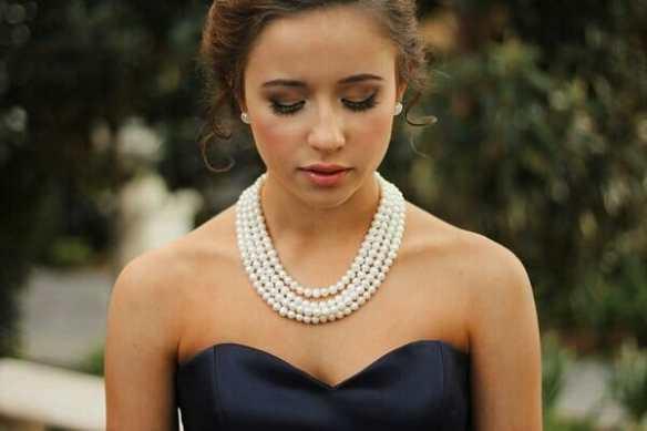 multi strand white pearl necklace