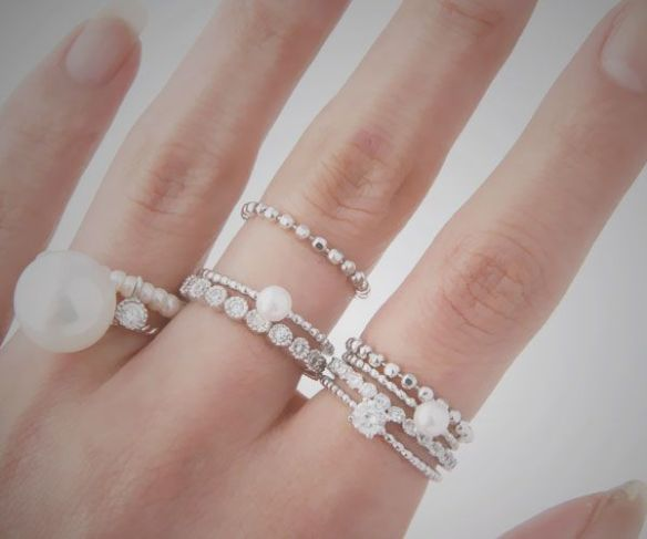layers of pearl rings