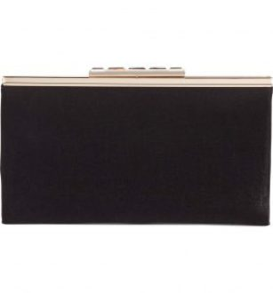 black accessories black clutch