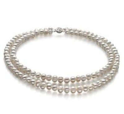 Doppelstrang Perlenkette Choker