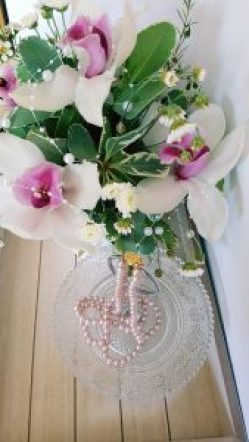 Lavendelperlenfarbe Perlen