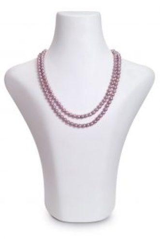 Lavendel Süßwasser-Perlenkette