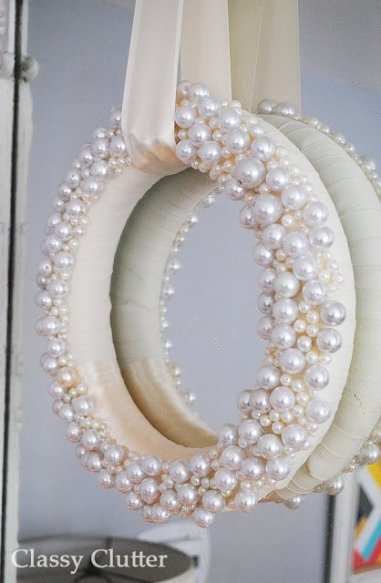 pearl decorated wreath