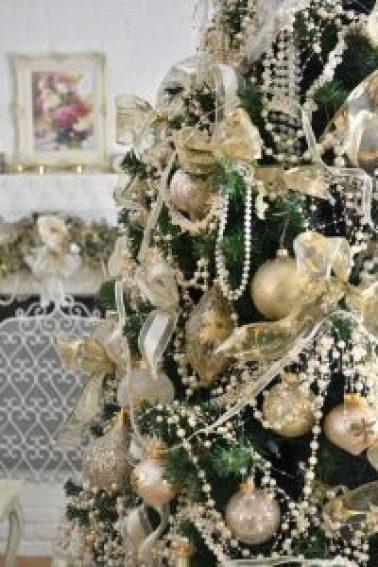 Perle Weihnachtsgarland