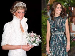 diana and kate wearing the three strand pearl bracelet