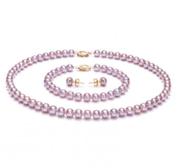 pearl jewelry sets for bridesmaids with lavender color