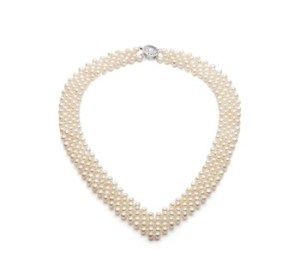 cheap pearl necklace V-neck style