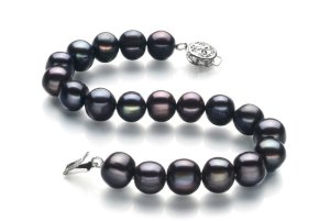 simple black pearl bracelet