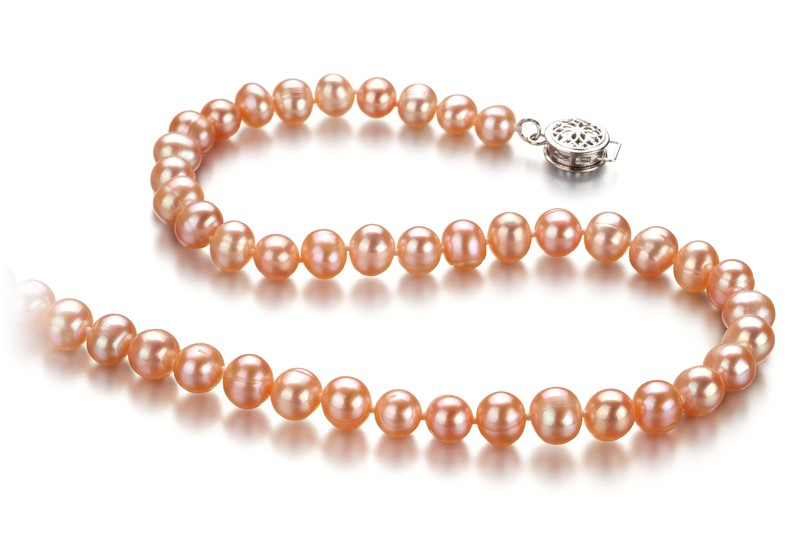 ec1fc8695 Any pink pearl necklace made using freshwater pearls will have been dyed  after the pearl has been harvested. But although most necklaces today using  pink ...