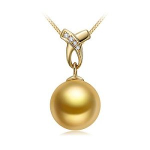large golden south sea pearl pendant