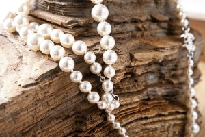 wearing pearls