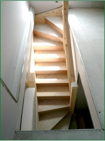 Case Study Double Winder Softwood Staircase Hr194 | Double Winder Staircase Plans | Stairway | 4 Step | Cad | Small Stair | 180 Degree