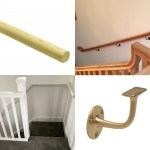 Wall Mounted Handrails Oak Handrail For Stairs Pear Stairs