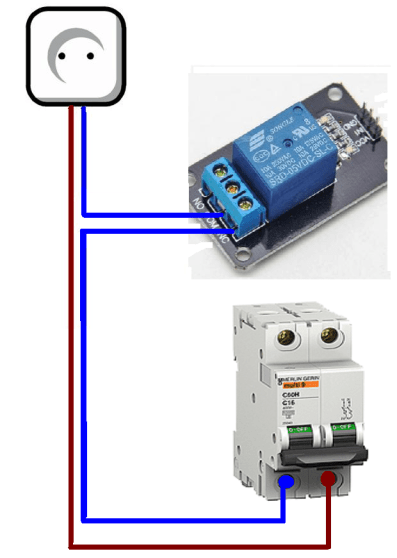 Plug differential relay