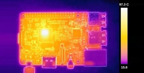 Φωτογραφία του Raspberry PI με θερμική κάμερα (HWlibre.com)