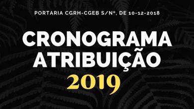 Photo of Cronograma de Atribuição de Aulas – 2019