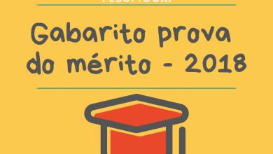 Photo of Gabarito da Prova de Mérito – SEE/SP – 2018